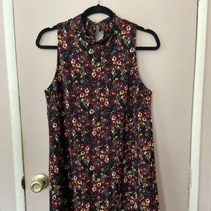 Black Floral Mini Dress. NEVER WORN.